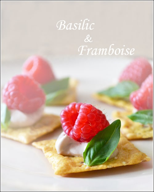 Raspberry Basil Bites make a beautiful and delicious appetizer for Spring or Summer.