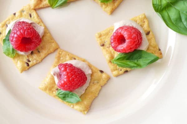 Easy appetizer recipe raspberry basil canap s for Canape appetizers