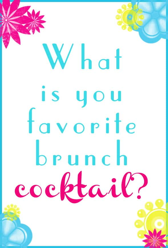Q#1: What is your favorite brunch cocktail? Answer the question in the comment section of this pin on the #BrunchWeek 2013 Pinterest Board for you chance to win. 1 answer per person please. http://pinterest.com/lovenconfection/brunchweek-2013/