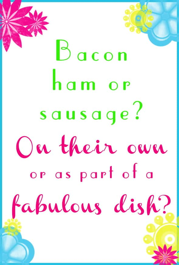 Q#4: Bacon Ham or Sausage? Answer the question in the comment section of this pin on the #BrunchWeek 2013 Pinterest Board for you chance to win. 1 answer per person please. http://pinterest.com/lovenconfection/brunchweek-2013/