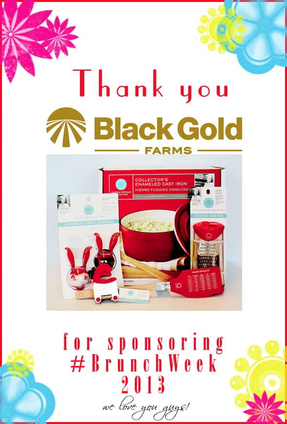 Thank you to our amazing #BrunchWeek sponsor Black Gold Farms for contributing the Martha Stewart Collection Kitchen Set for our giveaways. http://www.blackgoldpotato.com/ @blackgoldfarms