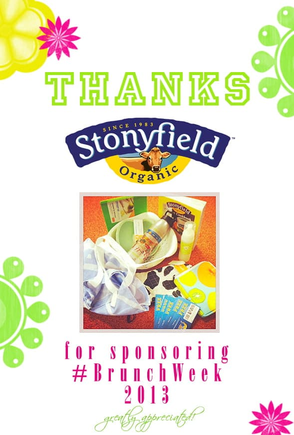 Thank you to our amazing #BrunchWeek sponsor @stonyfield for contributing a Stonyfield Kitchen Gift Pack for our giveaways. http://www.stonyfield.com/