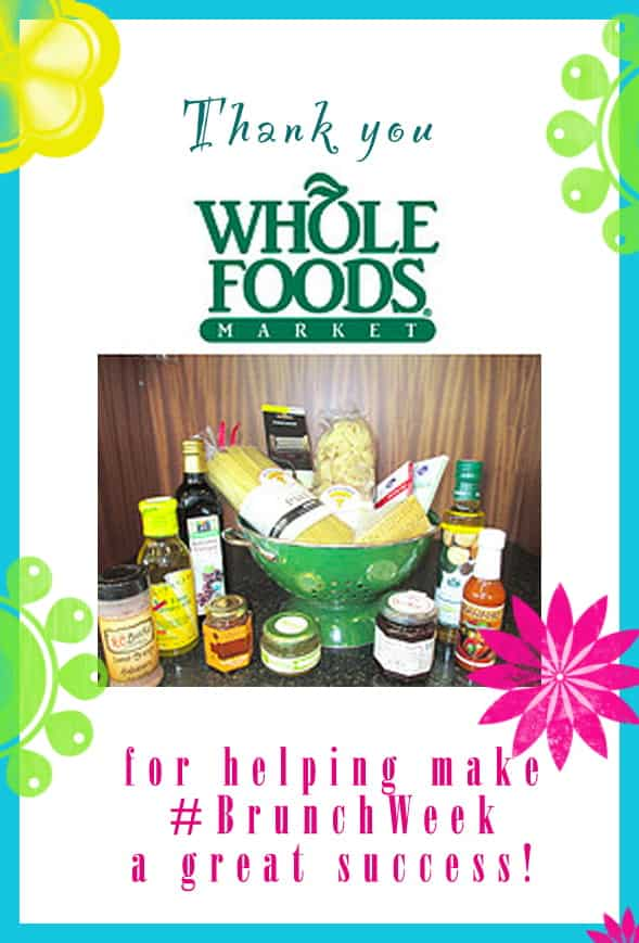 Thank you to our amazing #BrunchWeek sponsor @wholefoods Orlando for contributing two delicious gift baskets for our giveaways. http://www.wholefoodsmarket.com/stores/orlando