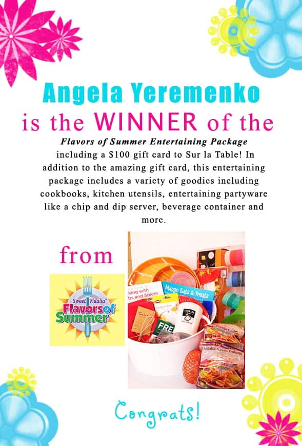 Congratulations Angela Yeremenko for winning the Flavors of Summer giveaway! Contact christine@cookthestory.com subject line BrunchWeek Prize and we'll send it out to you.