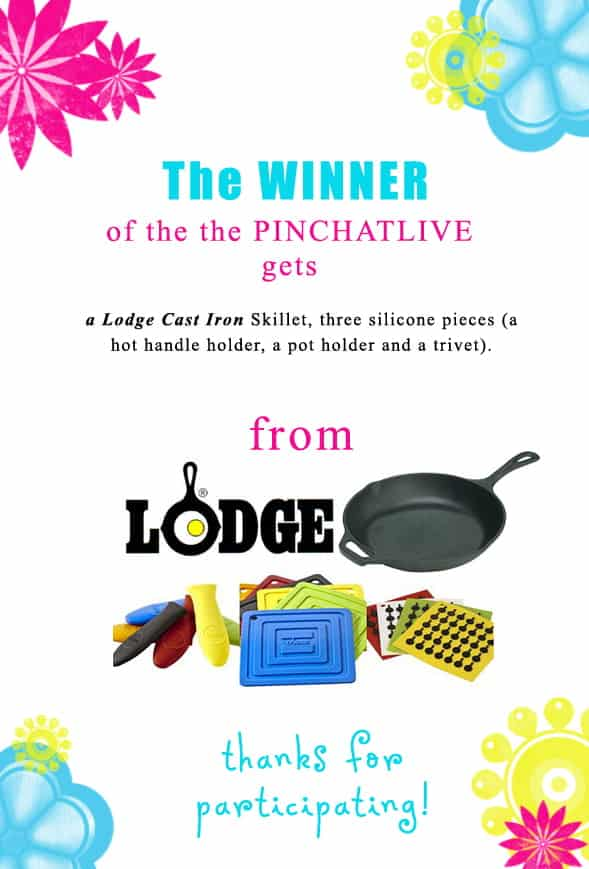 Congratulations ***************! You've won our PinChat Grand Prize. And *other names* each win one of four 3 piece silicone sets. Contact christine@cookthestory.com subject linke BrunchWeek Prize to claim your prize.