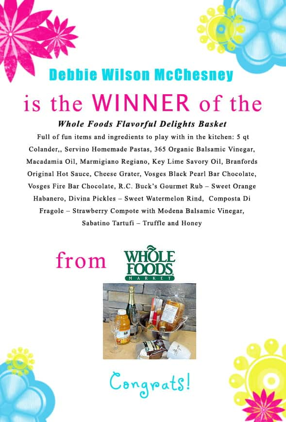 Congratulations Debbie Wilson McChesney for winning the @wholefoods Orlando Flavorful Delights Basket! Contact christine@cookthestory.com subject line BrunchWeek Prize and we'll send it out to you.