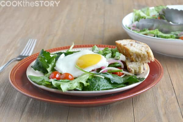 Recipe for a basic warm salad that can be served for brunch, a side dish, or a light vegetarian entree.
