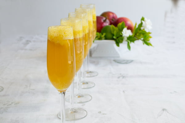 Mango Lime Bellini - An Easy Brunch Cocktail Recipe