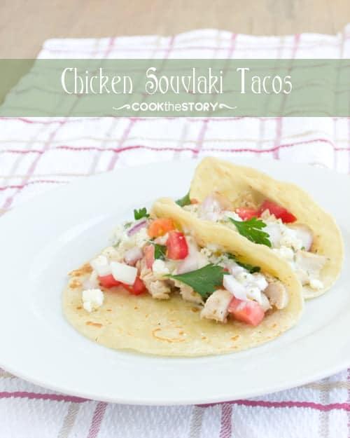 Chicken Souvlaki Tacos