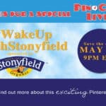 You're invited to the #WakeUpWithStonyfield PinChatLive Tuesday May 28 9pm Eastern