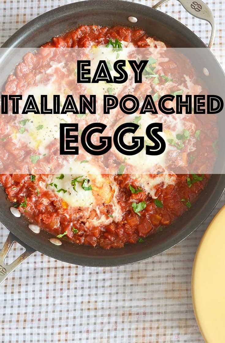 Italian Poached Eggs For breakfast are the perfect healthy thing to serve instead of something boring like scrambled eggs. This easy recipe is really delicious, low carb and gluten-free. #healthyeating #eggs #breakfast #glutenfree #lowcarb