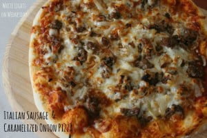 Italian Sausage and Caramelized Vidalia Onion Pizza