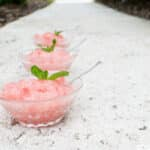Frozen Watermelon-White Wine Granita Dessert Recipe