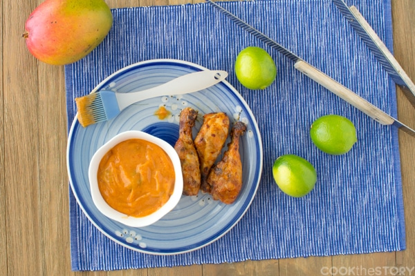 BBQ sauce with mango, lime and chipotle