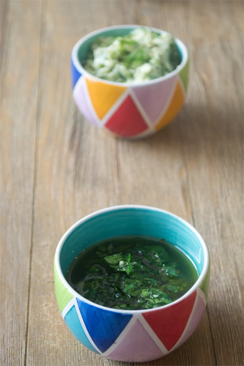 A Trio of Herb Sauces - Get the recipes on COOKtheSTORY.com