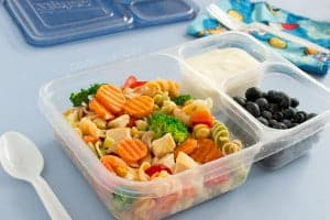 Easy make-ahead lunch ideas: A frozen pasta salad recipe that's versatile and can be turned into a soup or baked pasta for lunch or dinner from www.cookthestory.com