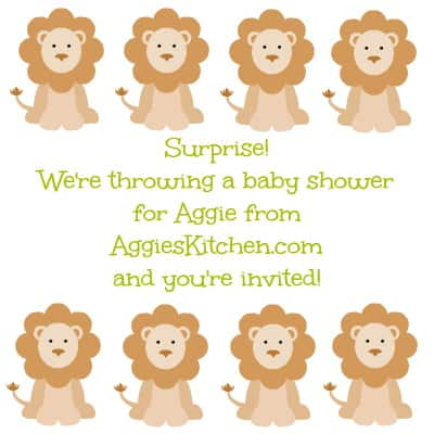 A surprise virtual shower for aggieskitchen.com