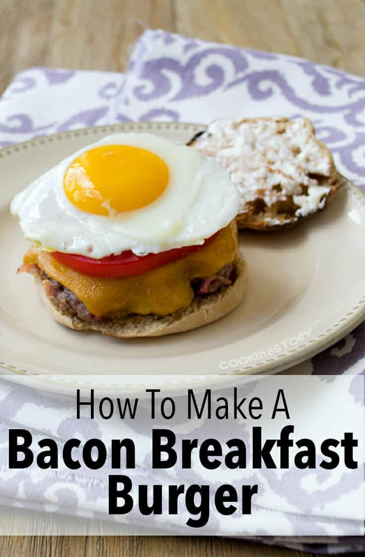 Breakfast for Dinner - Bacon Burger Recipe