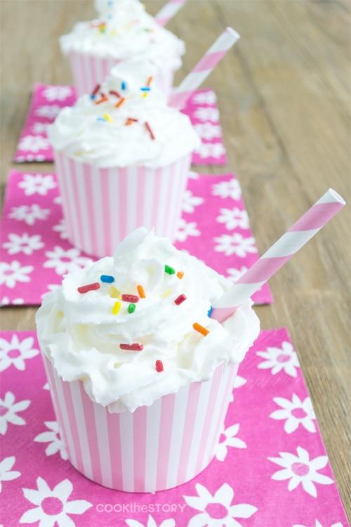 Cupcake Milkshake Recipe