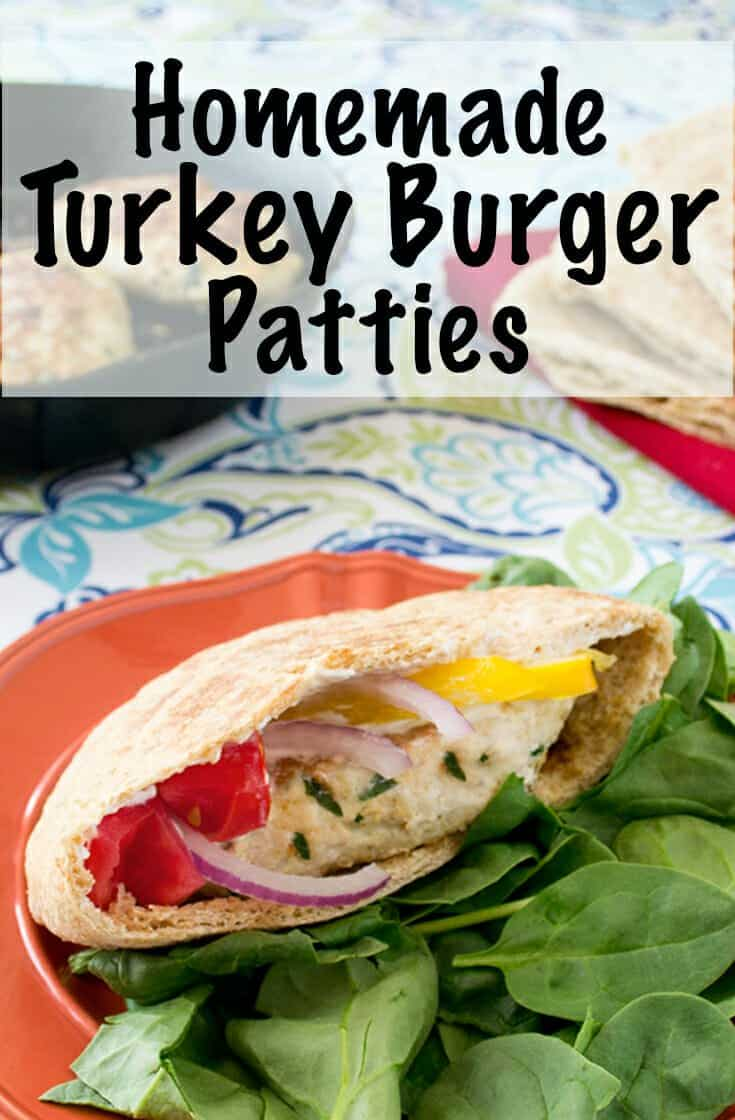 Homemade turkey burgers have never been so juicy or flavorful. Toasted cumin, coriander and fennel liven up these easy turkey burger patties served in a pita with veggies and Greek yogurt. It's a simple recipe that friends will always be asking for. You can make these on a pita or bun and in the oven or on the grill. #turkey #burger #grill #healthyrecipe #helthyrecipes