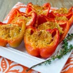 Easy Chicken Cheddar Stuffed Peppers Recipe