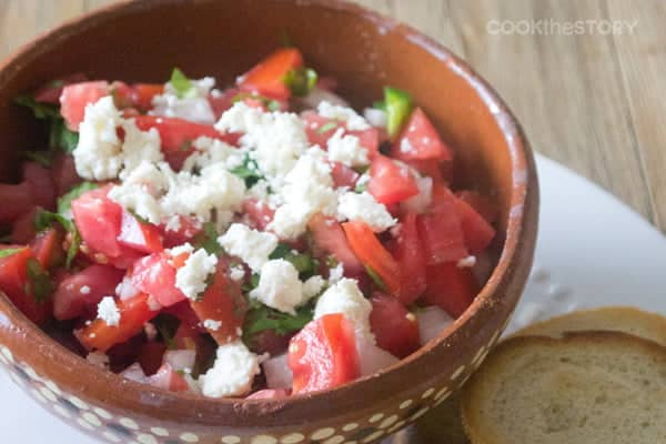 A Mexican Bruschetta Recipe with Queso Fresco by @cookthestory