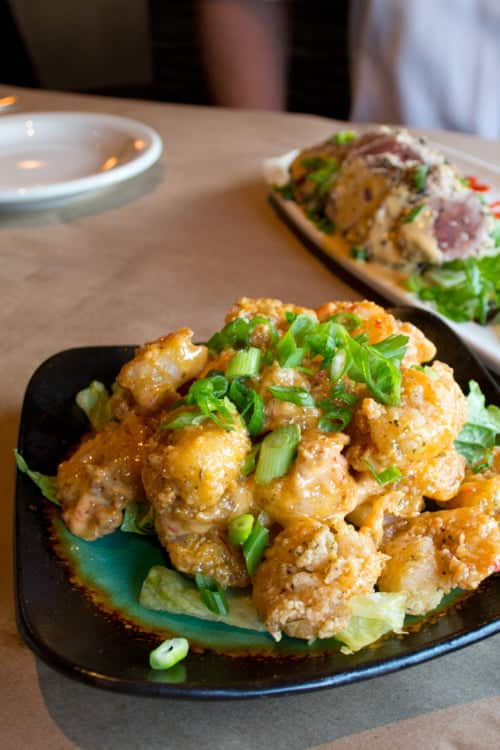 The addictive Bang Bang Shrimp at the new Waterford Lakes Bonefish Grill Location in Orlando