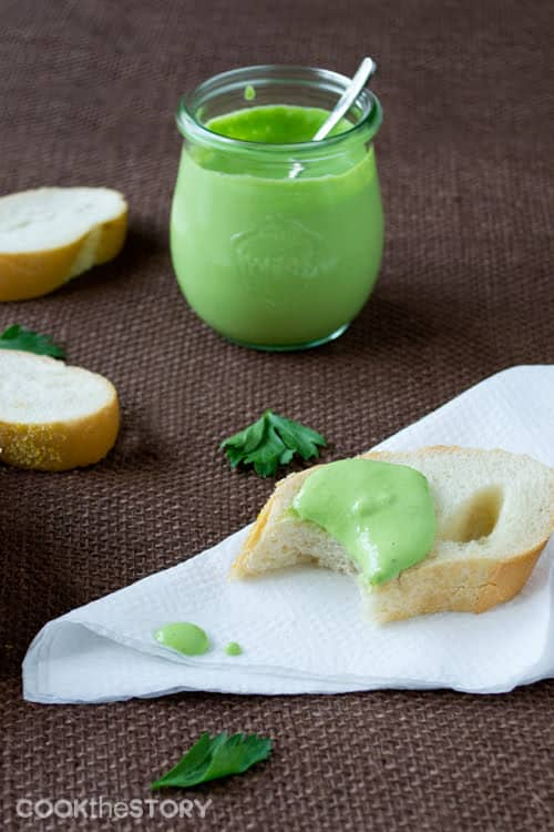 Delicious recipe for Milk Mayonnaise with Parsley and Garlic by @cookthestory