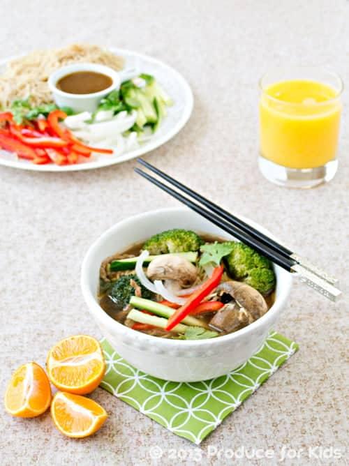 Fun and Easy Asian Noodle Soup #soup #noodles #recipes