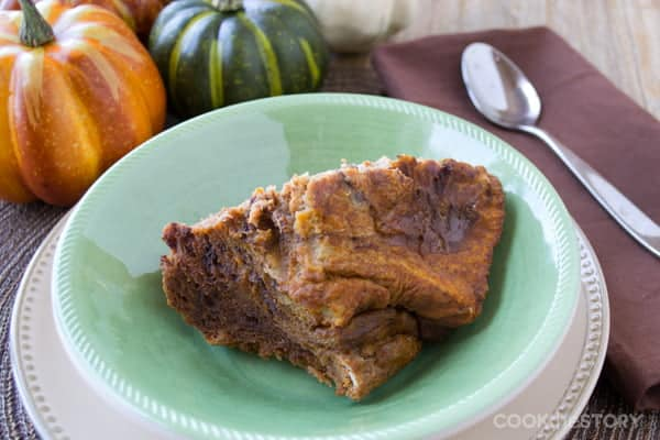 Slow Cooker Recipe: Breakfast Pumpkin Bread Pudding #SlowCooker #recipe #breakfast