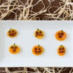 Healthy Halloween Recipes: Apricot Jack-o'-Lanterns - These healthy Halloween snacks