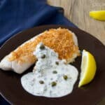 Parmesan Crusted Tilapia with Creme Fraich Tartar Cream Sauce #tilapia #fish #recipe #EasyDinner
