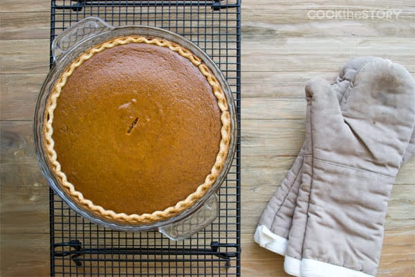 Well-Spiced Classic Pumpkin Pie with Bourbon Whipped Cream from www.cookthestory.com #recipe #pumpkin #pie #PumpkinPie #Thanksgiving