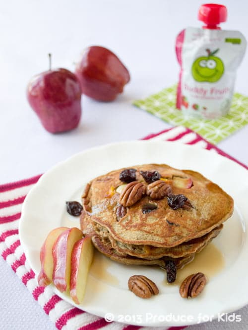Nutty Apple Pancakes - This breakfast recipe is a family favorite. Easy enough to make even on busy weekdays, too!
