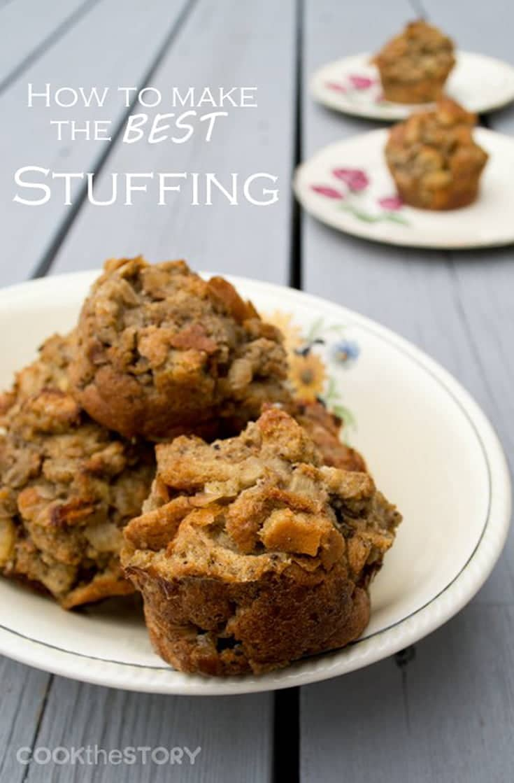 The best stuffing recipe is crunchy on the outside and moist on the inside. Find out how to make perfect stuffing every time with this recipe & tutorial. #stuffing #sidedish #thanksgiving #thanksgivingside #christmasdinner #dinner