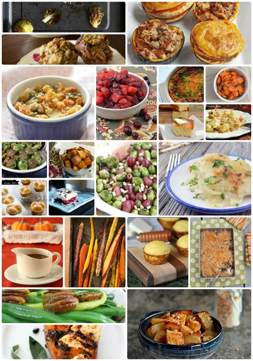 52 Easy Thanksgiving Side Dishes - Everything you need for a happy holiday celebration, from appetizer recipes to main course recipes, to drinks and dessert recipes.