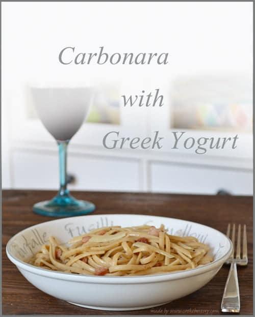 Carbonara with Greek Yogurt