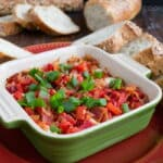 Hot Cheese Dip with Bacon and Roasted Peppers and more delicious holiday appetizer recipes