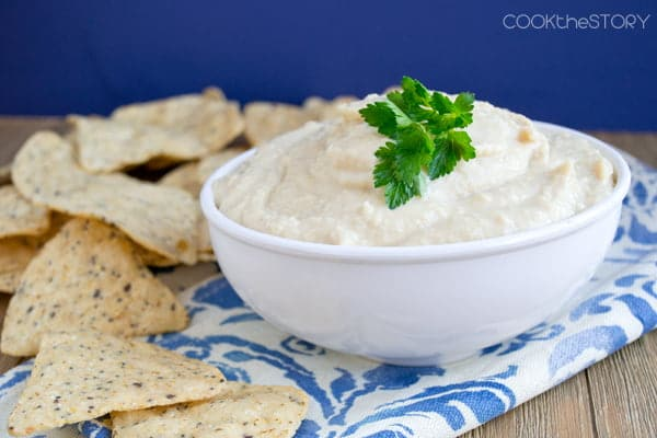 Creamy Hummus Made with Greek Yogurt