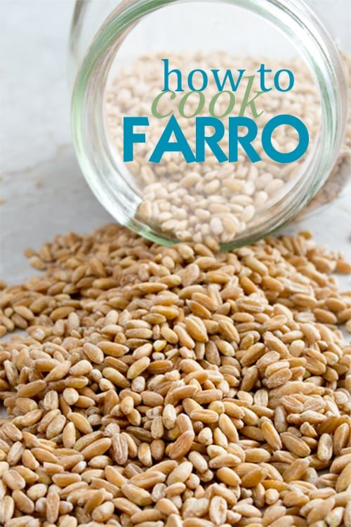 Learn how to cook farro on the stovetop. It's such a delicious, versatile, and hearty grain. I know you're going to love it!