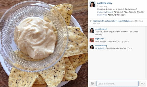 Best Hummus Recipe (instagram shot) , made super creamy by the addition of Greek Yogurt
