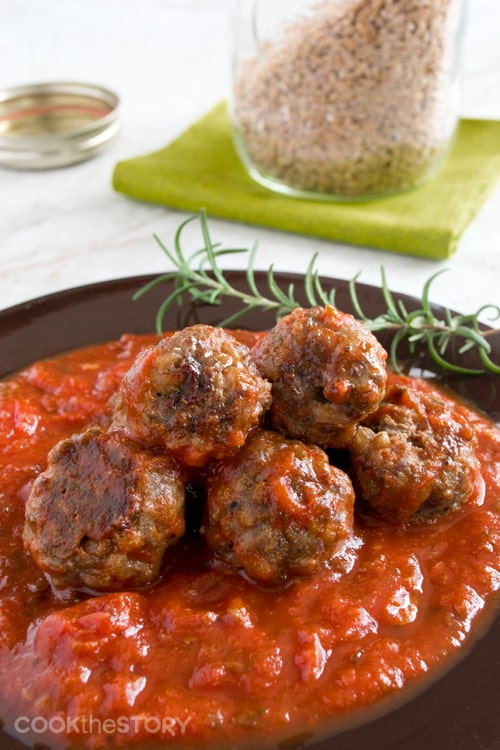 Meatballs with Farro and Rosemary