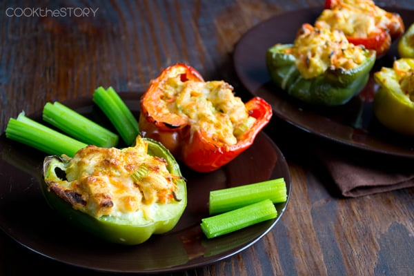 Buffalo Chicken Stuffed Peppers Recipe
