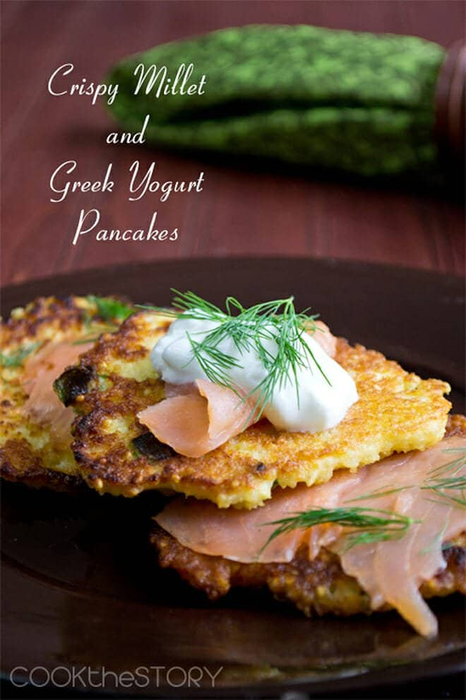 ThisMillet Pancake Recipe is easy and gluten-free and it makes such tasty, crunchy pancakes.It is perfect as a base for smoked salmon or caviar because the millet gets very crispy when panfried.