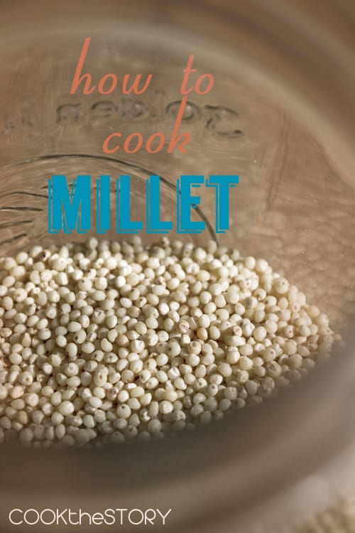 How To Cook Millet, a light, fluffy, quick and convenient seed used as a side dish and as a porridge