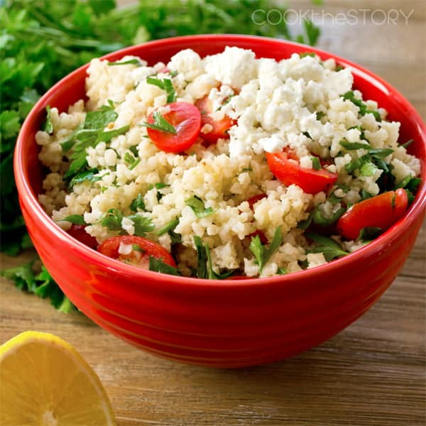 Millet Salad with Tomatoes and Feta by @cookthestory