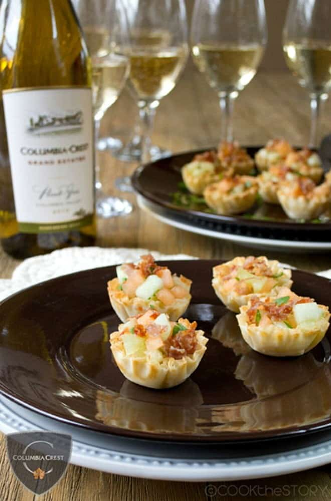 Mini Prosciutto with Melon Appetizer Cups Recipe