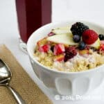 Apple-Berry Crisp Breakfast Quinoa (make-ahead!)