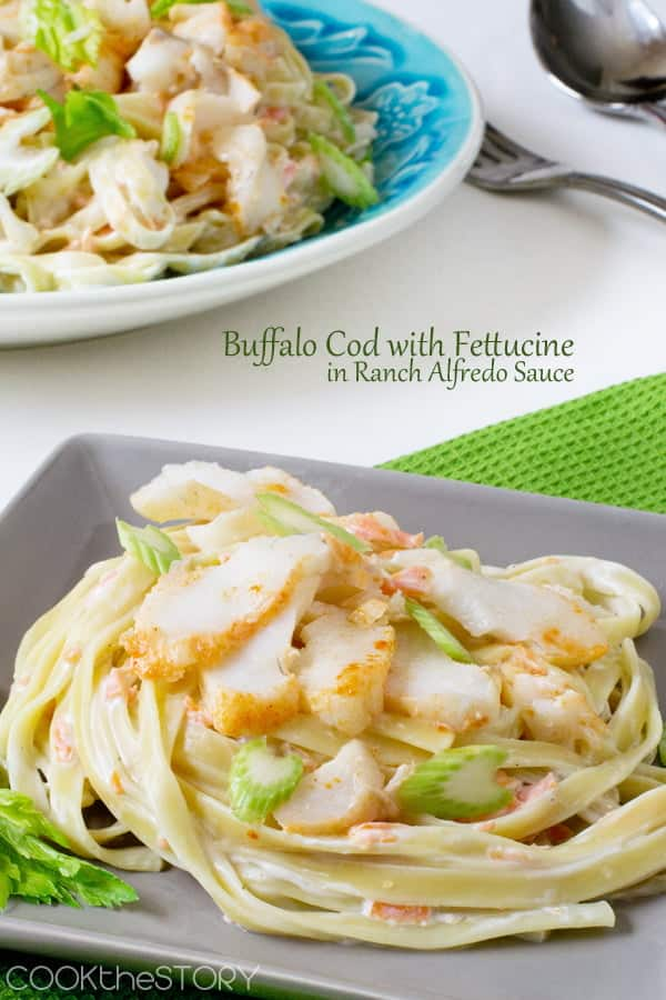 Buffalo Cod From Frozen with Ranch Alfredo Sauce