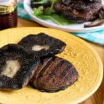 Grilled Portobello Mushrooms with Roasted Garlic Infused Red Wine Vinegar